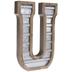 Galvanized Metal Letter Wall Decor - U