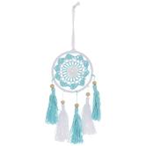 White & Turquoise Crochet Dreamcatcher