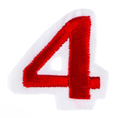 """Number Iron-On Applique - 1 1/2"""""""