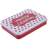 White & Red Polka Dot Gift Card Holder