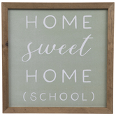 Home Sweet Home School Wood Wall Decor