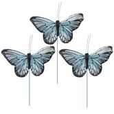 Blue Feather Butterflies