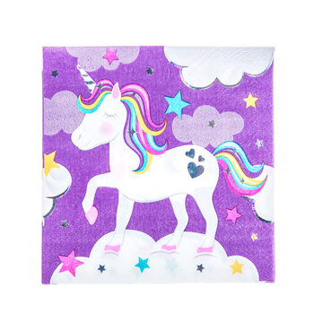 Unicorn Birthday Napkins - Small