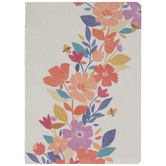 Flowers & Bees Distressed Notebook