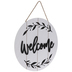 Welcome Round Plank Wood Wall Decor