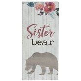 Sister Bear Wood Decor