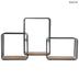 Three-Tiered Square Metal Wall Shelf