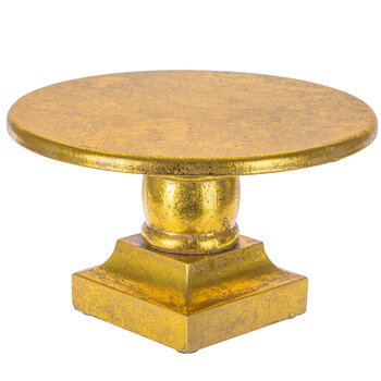 Gold Wood Cake Stand