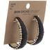 Black Oval Raffia Hoop Earrings