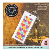 Scalloped Punched Cross Stitch Bookmarks