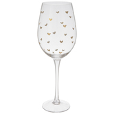 Stemmed Glass With Gold Hearts