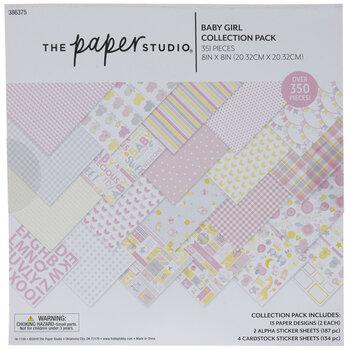 "Baby Girl Scrapbook Kit - 8"" x 8"""