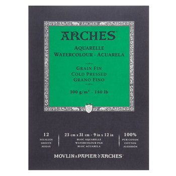 """Arches Watercolor Paper Pad - 9"""" x 12"""""""