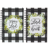 Rejoice Buffalo Check Spiral Notebooks