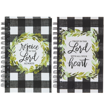 Rejoice Buffalo Check Spiral Notebooks