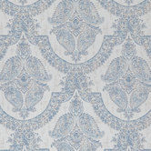 Blue Paisley Fabric