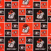 Georgia Block Collegiate Cotton Fabric
