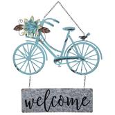 Welcome Bike Metal Wall Decor
