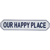 Our Happy Place Metal Wall Decor