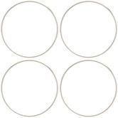 """Steel Rings - 4"""""""