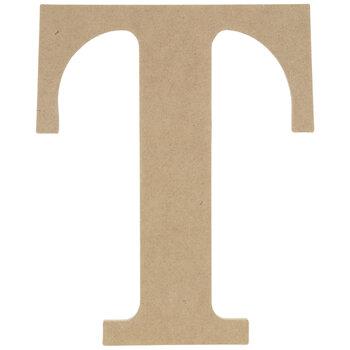 """Wood Letter T - 9 1/2"""""""