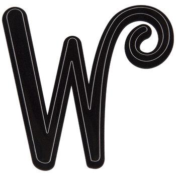 Black Letter Stickers - W