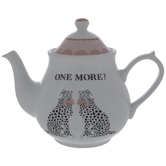 White & Pink Cheetahs Tea Pot
