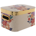 Metallic Gold Floral Rectangle Box - Small