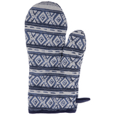 Dark Blue & White Diamond Oven Mitt