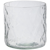 Crinkled Glass Candle Holder