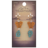 Howlite Butterfly & Leaf Drop Charms