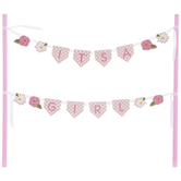 It's A Girl Floral Cake Banner
