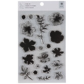 Flowers & Leaves Clear Stamps