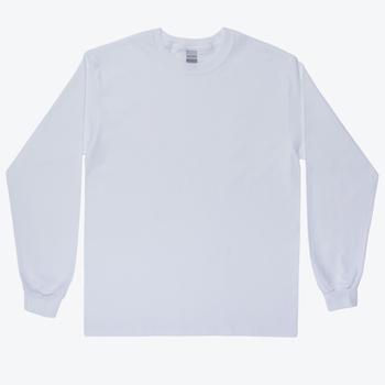 White Adult Long Sleeve T-Shirt - XL