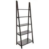Black Modena Five-Tiered Shelf Rack