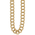 10K Gold Plated Parallel Curb Chain Necklace