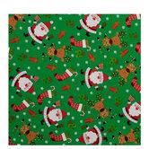 Green Christmas Pals Gift Wrap