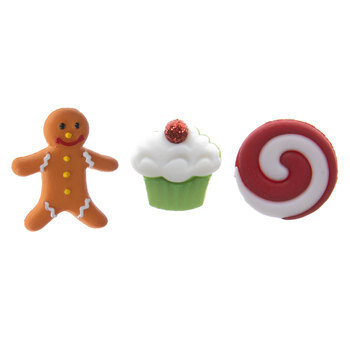 Christmas Sweets Shank Buttons