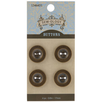 Gold Round Buttons - 17mm