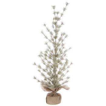 "Sage Glitter Pine Tree - 36"""