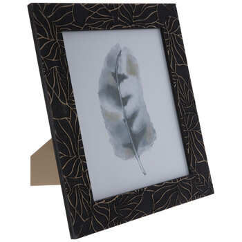 Watercolor Feather Framed Decor