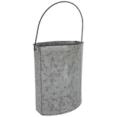 Ridged Oval Galvanized Metal Bucket