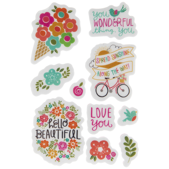 Playful Floral Cling Stamps
