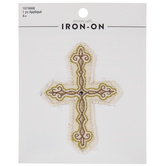 Frayed Cross Iron-On Applique
