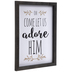 Oh Come Let Us Adore Him Wood Wall Decor
