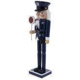 Traffic Police Officer Wood Nutcracker