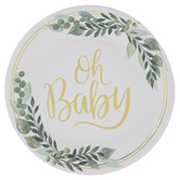 Oh Baby Paper Plates - Large