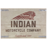 Indian Motorcycle Company Wood Wall Decor
