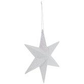 White Glitter Star Wall Decor