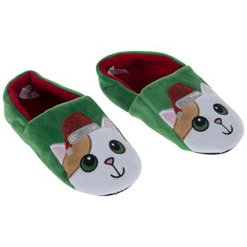 Santa Hat Cat Slippers - Small/Medium